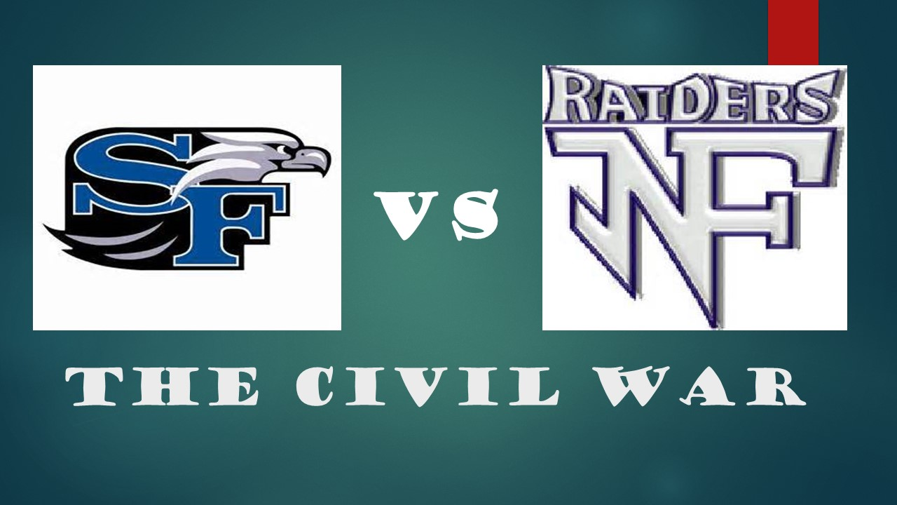 FRIDAY NIGHT.  7:30.  SOUTH AT NORTH.  ONLY HERE.  (Click for the hype)