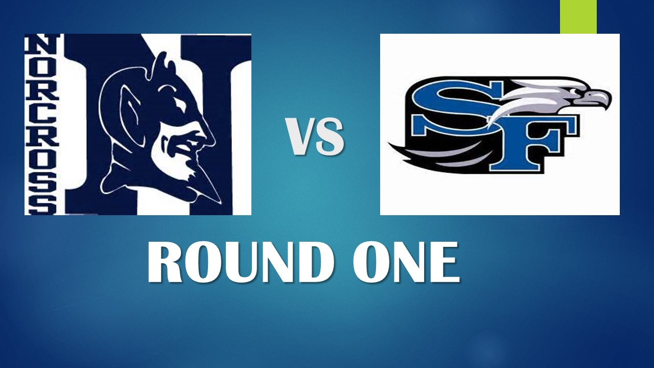 SOUTH FORSYTH HEAD COACH JEFF ARNETTE TALKS ABOUT THE SEASON AND THE FIRST ROUND MATCH UP.