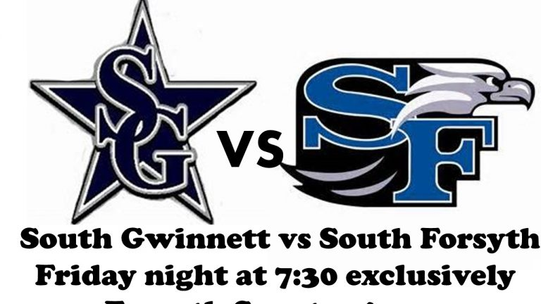 SOUTH FORSYTH HOSTS SOUTH GWINNETT TONIGHT FOR HOMECOMING!  LISTEN TO THE GAME LIVE RIGHT HERE