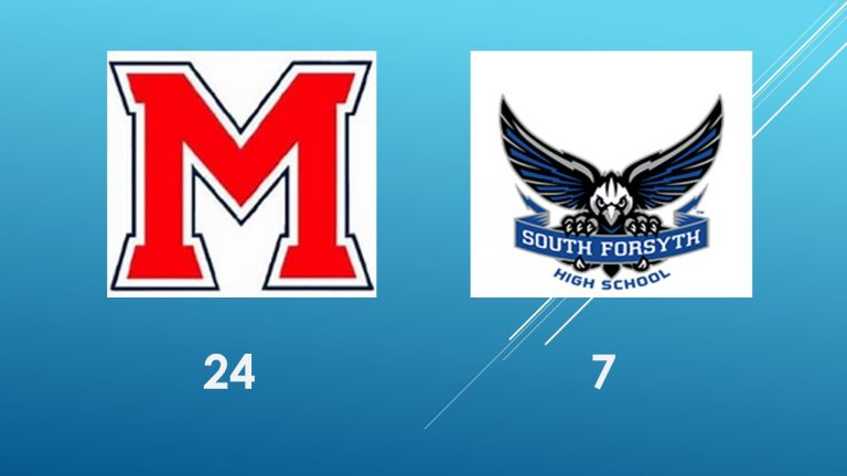 Milton takes control of the Region 5 – 7A race with a convincing 24-7 victory over South Forsyth.  Catch the REPLAY HERE.